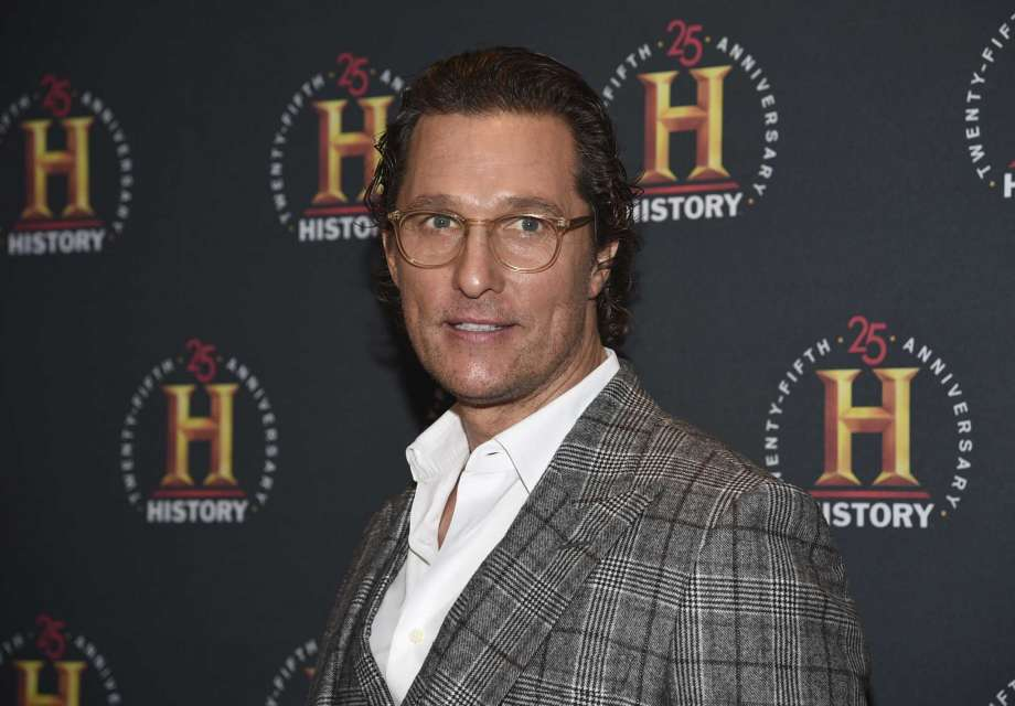 """FILE - Actor Matthew McConaughey attends A+E Network's """"HISTORYTalks: Leadership and Legacy"""" on Feb. 29, 2020, in New York. The Oscar winner, known for such films as """"Dallas Buyers Club"""" and """"Magic Mike,"""" didn't want to write an ordinary celebrity book. """"This is not a traditional memoir, or an advice book, but rather a playbook based on adventures in my life,"""" McConaughey said in a statement about """"Greenlights,"""" which comes out Oct. 20. (Photo by Evan Agostini/Invision/AP, File) Photo: Evan Agostini, Evan Agostini/Invision/AP / ©2020 Evan Agostini"""