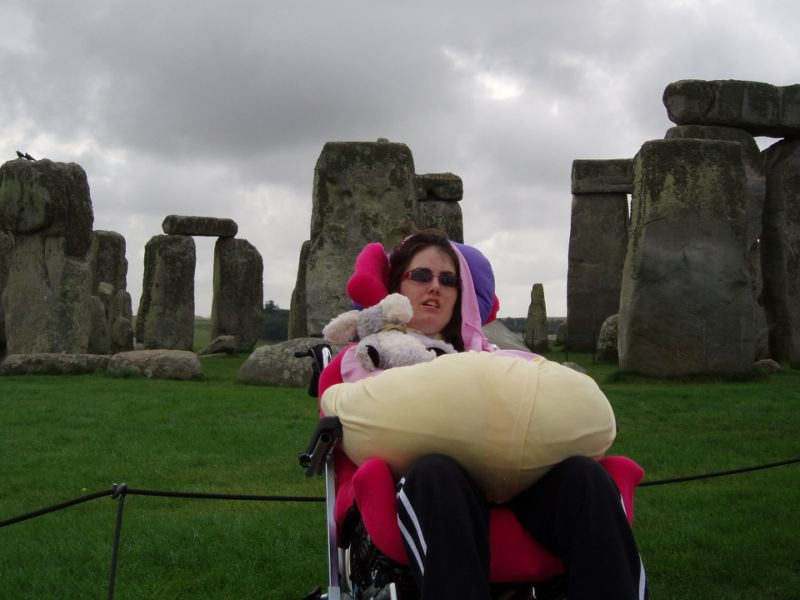 Tracey now has more neck and chin movement and can now operate her wheelchair. (SWNS)
