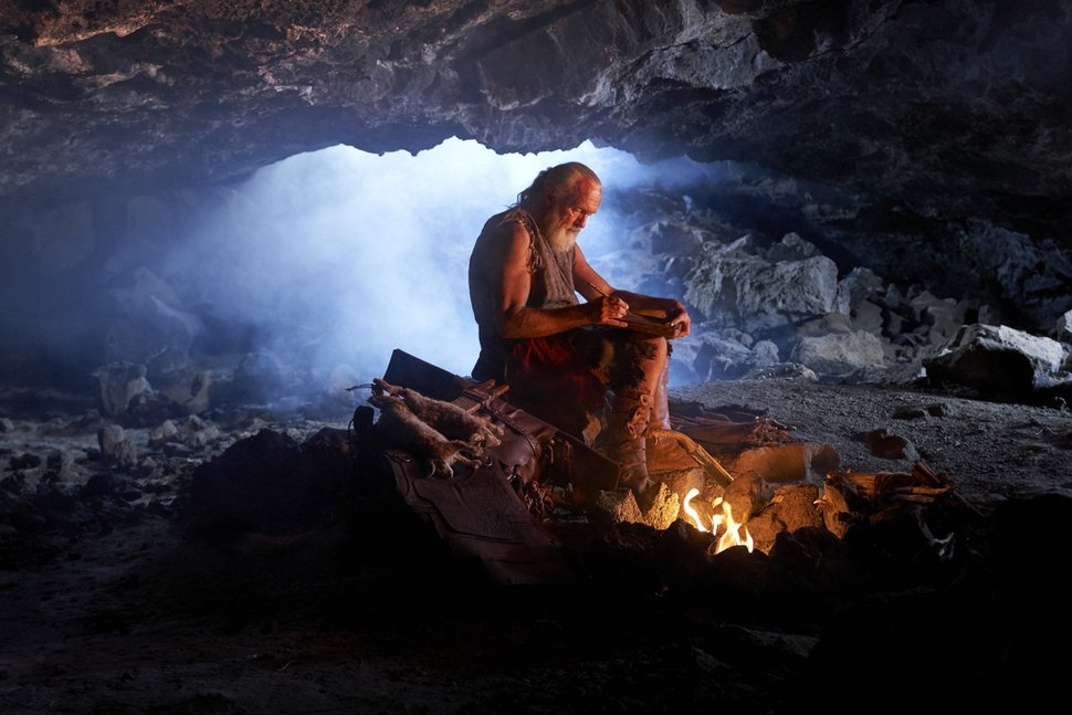 (Photo courtesy of The Church of Jesus Christ of Latter-day Saints) As the only surviving Nephite, a people of the ancient Americas, Moroni finishes writing about his people's destruction. The final words Moroni writes are to ask all people to come unto Christ. This photo comes from the faith's Book of Mormon video series.